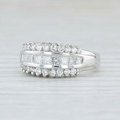 A Vintage 18K White Gold Ethically Mined Diamond Anniversary Ring $1295.00