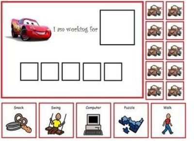 graphic regarding Token Board Printable known as Autism: Lightening McQueen Token Board / Preschool products and solutions