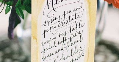 Calligraphy Menu by Paperfinger, Photo by Jen Huang Photography