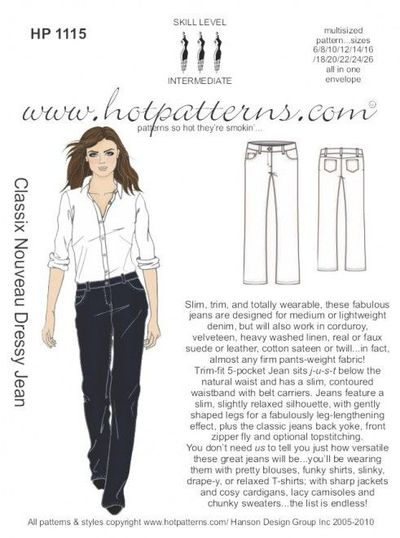 dressy jean hot patterns