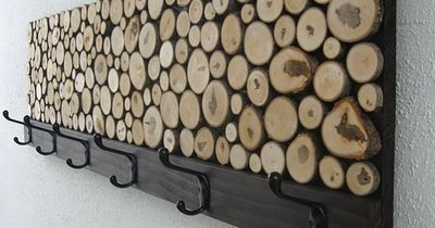 So cool. Found this Maple Wood Slice Rustic Wood Coat Rack from Modern Rustic Art for $245 on Etsy