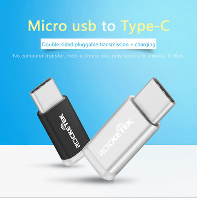 Rocketek Type C Male To Micro USB Female Charging OTG Adapter Converter for Phone Macbook Tablet