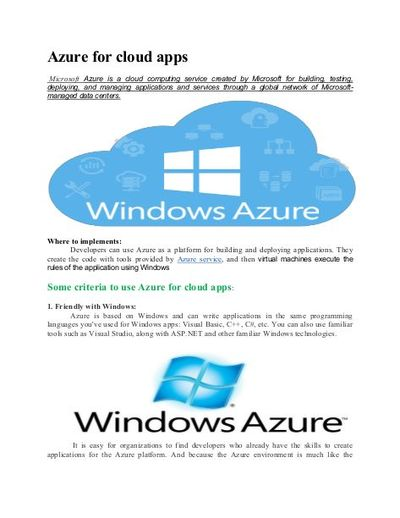 Now maintain your Business security and reliability with Microsoft Azure/ Cloud. To know more, Contact DFSM Consulting.