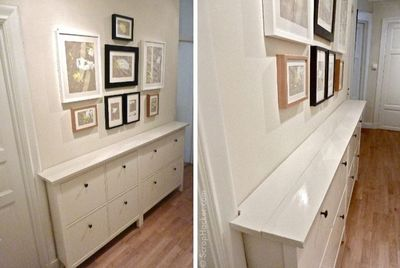 IKEA Hemnes hack After shot - I have no where to put this in my current house, but what a great idea for a hallway.