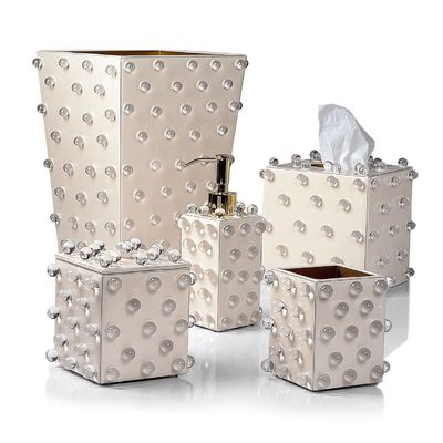 Roxy Ecru & Gold Bath Accessories by Mike + Ally $125.00