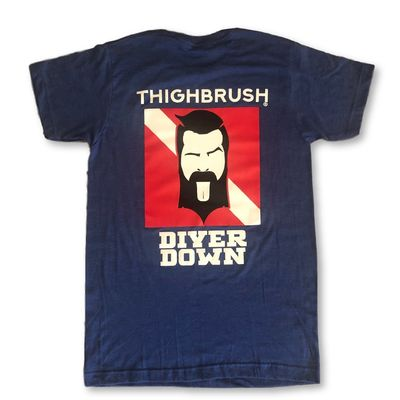 """LIMITED EDITION - THIGHBRUSH® - """"Diver Down"""" - Men's T-Shirt - Heather Blue"""