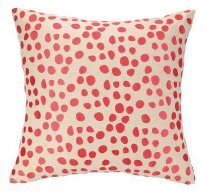 Pebble Parade Pillow in Coral features neutral linen square sprinkled with a decorative embroidered confetti inspired pattern. This throw pillow is the perfect way to spice up your bedding or favorite accent chair. As seen in HGTV magazine
