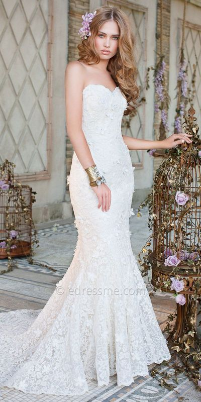 Lace Trumpet Wedding Dress By Camille La Vie $855.00