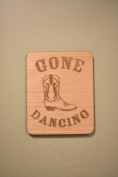 Gone Dacning - Wood Laser Engraving // country western, cowgirl and cowboy boot, line dancing, 2 stepping, two stepping, boots decor, wall $22.95