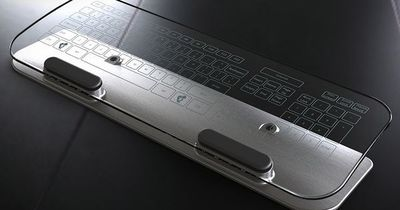 Glass Multi-Touch Keyboard