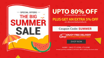 Summer Furniture Sale Up to 80% Off + Extra 5% Off | FREE DELIVERY* 