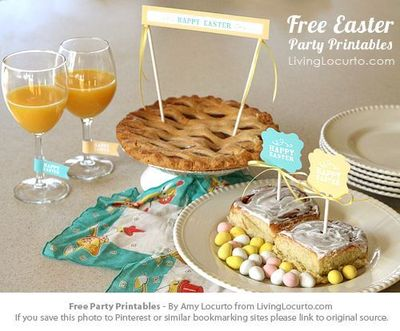 Free Party Printables for Easter