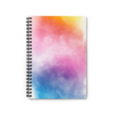 Spiral Notebook - Ruled Line - Abstract Multicolor Powder Explosion - Dust-Particles-Splash �'�12.89