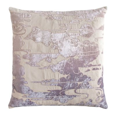Iris Clouds Velvet Appliqué Pillow $293.00