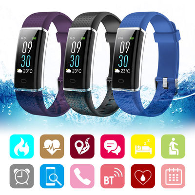 Bakeey ID130 LCD Color Screen Wristband Heart Rate Blood Pressure Monitor Sport Tracker Caller ID Display Smart Watch