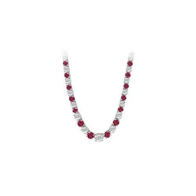14K White Gold Ruby & Diamond Eternity Necklace 17.00 CT TGW for just $20305.25. @thelavenderlilac