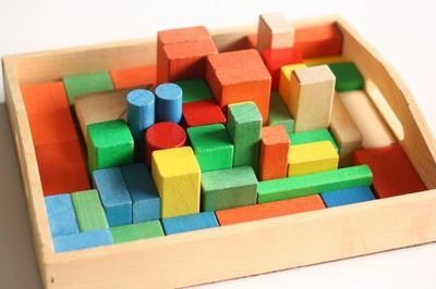 This homemade block challenge puzzle is like a real life game of Tetris but you play it with building blocks! Fun and challenging for kids of all ages!