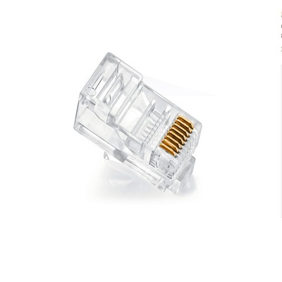 200x RJ45 RJ-45 CAT5 Gold Shielded Modular Plug Network Connector
