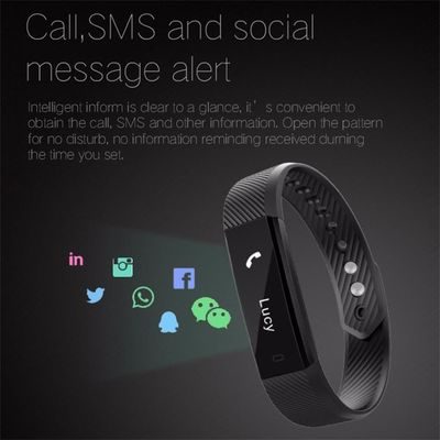 ID115 Smart Bracelet Heart Rate Monitor Fitness Tracker Step Counter Bluetooth Band Alarm Clock Vibration Pedometer Compatible $30.99