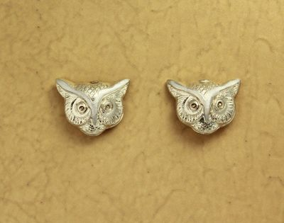 Magnetic Silver Owl Clip Non Pierced Earrings $25.00 Designed by LauraWilson.com