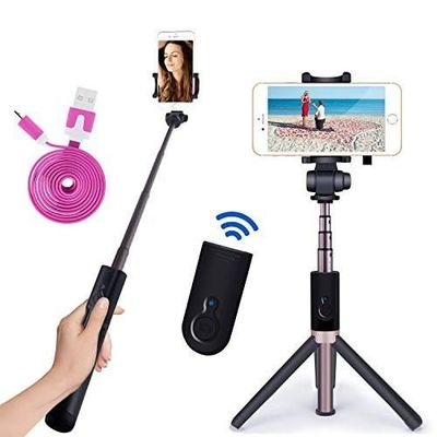 selfie stick bluetooth monopod with foldable tripod stand an for my clos. Black Bedroom Furniture Sets. Home Design Ideas