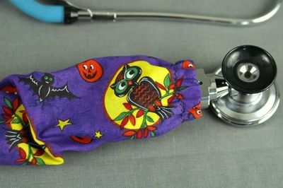 Halloween Stethoscope Cover | Owl Fabric Stethoscope Cord Cover | Nurse Doctor Gift | Stethoscope Sock | Stethoscope Accessories $10.99