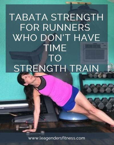 If you think you don't have time to do a strength training for runners work out, try this four-minute full body Tabata-style workout as part of your warm-up bef