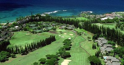 A view from the air of part of the Kapalua Resort in Maui, Hawaii.