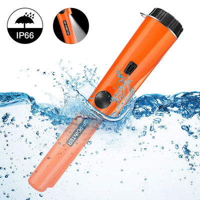 SGODDE Handheld Metal Detector IP66 Waterproof PinPointer Metal Detector Portable High Sensitivity 360 ° Metal Pointer with LED Indicator For Hunt Gold Coins Relics Jewelry Adults / Children