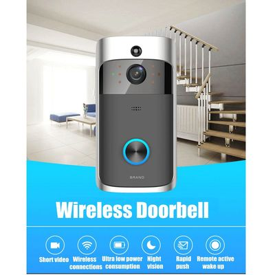 WiFi Wireless Remote Video Doorbell Camera Door Intercom Security Bell Phone - With 8GB TF Card