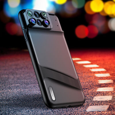 Rock Lens Phone Cover Multi-Lens Wide Angle Macro Lens Telephoto Fisheye Camera 6 In1 Shockproof Protective Case For iPhone XS MAX