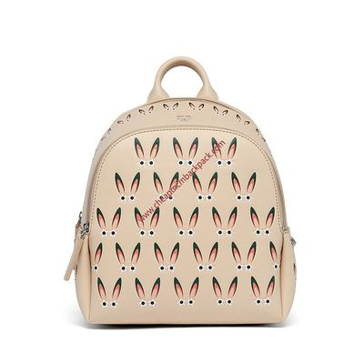 MCM MINI POLKE STAR EYED BUNNY BACKPACK IN BEIGE