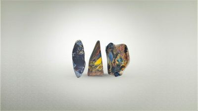 Pietersite trio tumbled stones from Namibia A grade $44.44