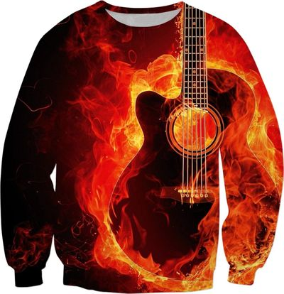 ROSS Flamin Guitar Sweatshirts $65.00
