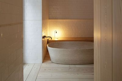 The new Santa Clara 1728 hotel, Lisbon. Owners João and Andrea Rodrigues came upon a stunning 18th century building in the hilly and charming neighborhood of Alfama. Having already launched three other hospitality projects outside of Lisbon, the Casas na...