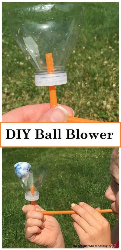 Looking for a fun way to sneak in a bit of science with the kids? Making a ball blower is a fun way to talk about the power of wind.