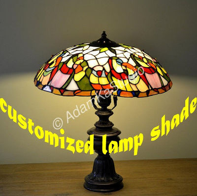 Parrots Stained glass lamp. Tiffany lamp. Stained glass desk lamp. Tiffany light. Stained glass bird.Stain glass art.Colorful glass lighting $320.00