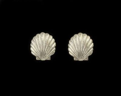 14 Karat Gold or Nickle Plated Scallop Shell Magnetic Clip Non Pierced Earrings $25.00 Designed by LauraWilson.com