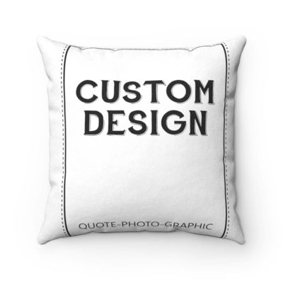 Personalized Faux Suede Square Pillow Case - Custom Pillow case with saying / name / dog / cat / photo / for girls / kids / boys $18.37