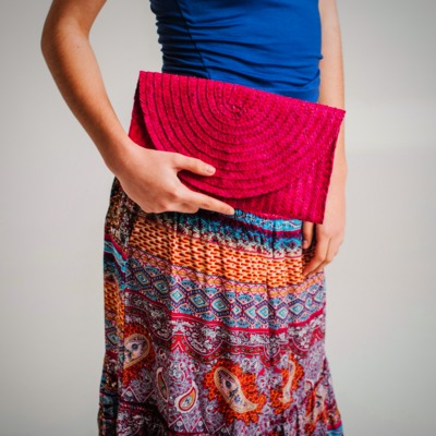 Long cotton Boho skirt $134.99