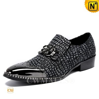 CWMALLS® Mens Embossed Leather Brogue Loafers CW708103[Valentine's Day Gift, 48-hour delivery]