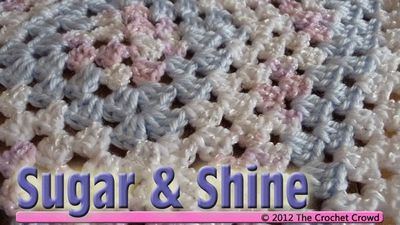 Learn how to crochet a baby's afghan. This afghan will take 6 balls of baby yarn products. Details and free pattern available here.
