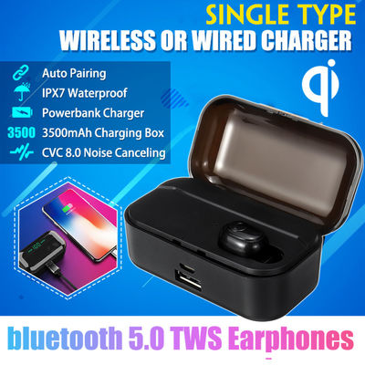 TWS Wireless bluetooth 5.0 Earphone 3500mAh Power Bank Smart Touch Waterproof Hifi Headphone With Charging Box