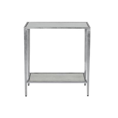 Joyce Silver Rectangular Side Table $581.00
