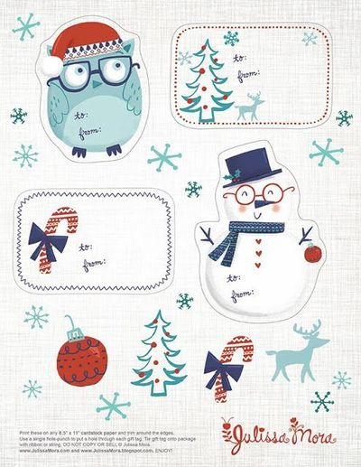 We Love to Illustrate: Free Printable Gift Tags!