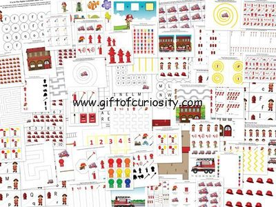 Fire Fighter Printable Pack {fire fighter printables}