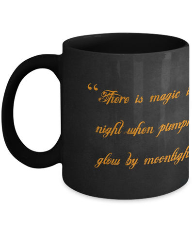 25% off Sale Magic Night, halloween, gothic, holiday, Samhain, ghosts, witches, goblins, wicca, pagan, coffee mug, coffee, cup $17.95