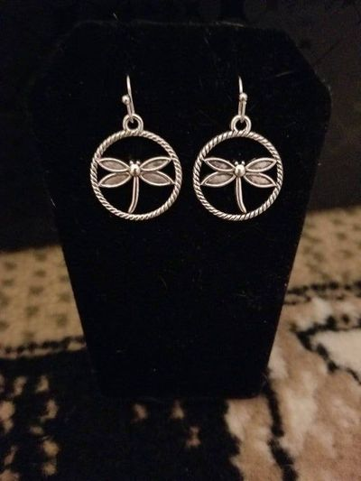 Silver Dragonfly Earrings $3.50