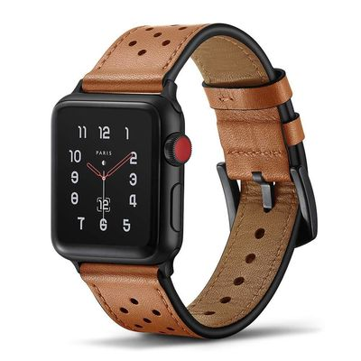 Leather strap for Apple watch band 44 mm 40mm 42mm 38mm series 4 3 2 1 $32.99
