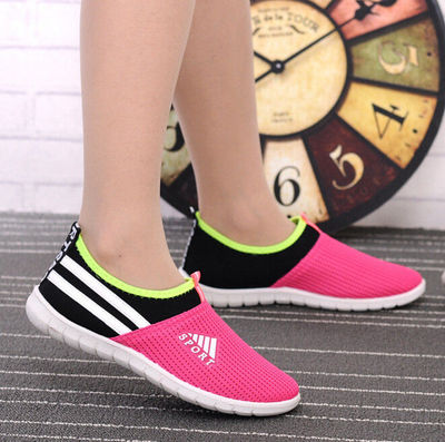 Women cool mesh breathable shoes sport and outdoor soft bottom shoes casual slip on shoes $17.80